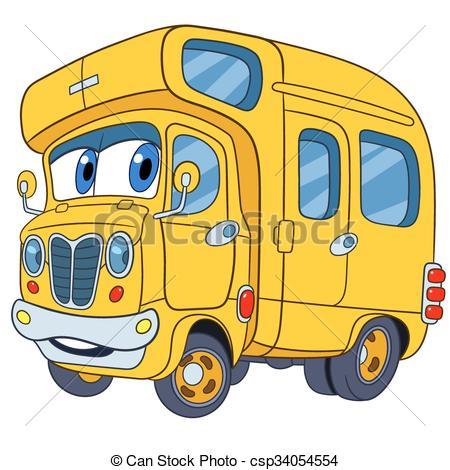 450x470 Cute Cartoon School Bus. Cute And Funny Childish Cartoon