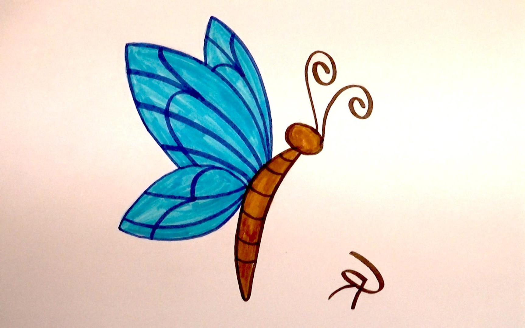 1724x1080 Learn How To Draw An Easy Cartoon Butterfly