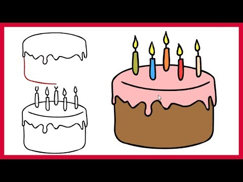 480x360 How To Draw A Birthday Cake Easy Step By Step For Kids