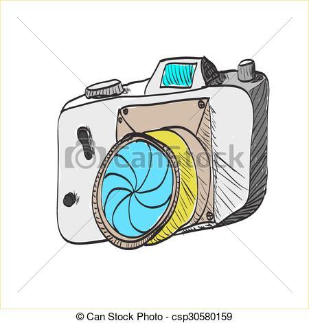 450x470 Cartoon Camera Clipart Vector