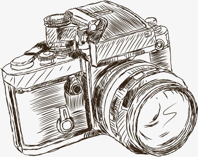 650x517 Cartoon Camera Vector, Cartoon Hand Drawing, Retro Cartoon