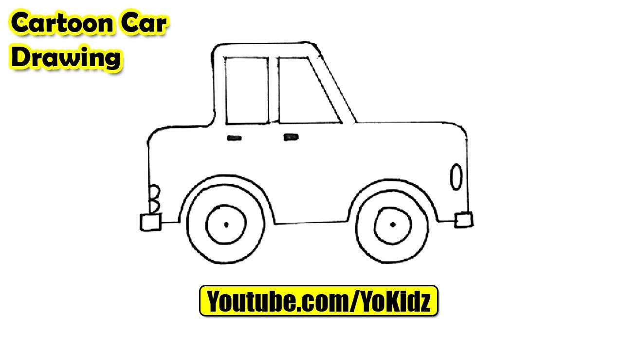 1280x720 How To Draw A Cartoon Car Easy