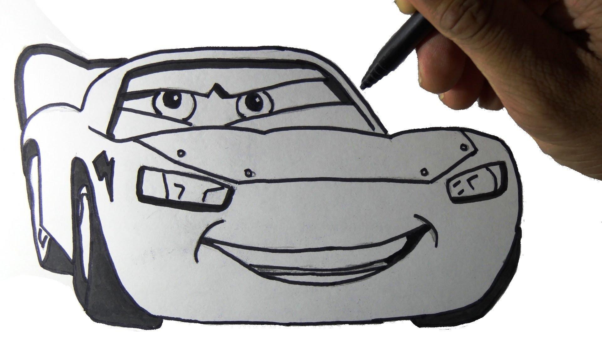 1920x1080 How To Draw A Car Lightning Mcqueen Cartoon