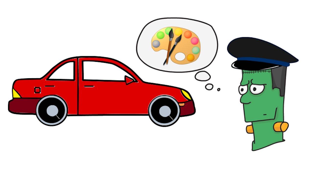 1280x720 How To Draw A Cartoon Car Step By Step