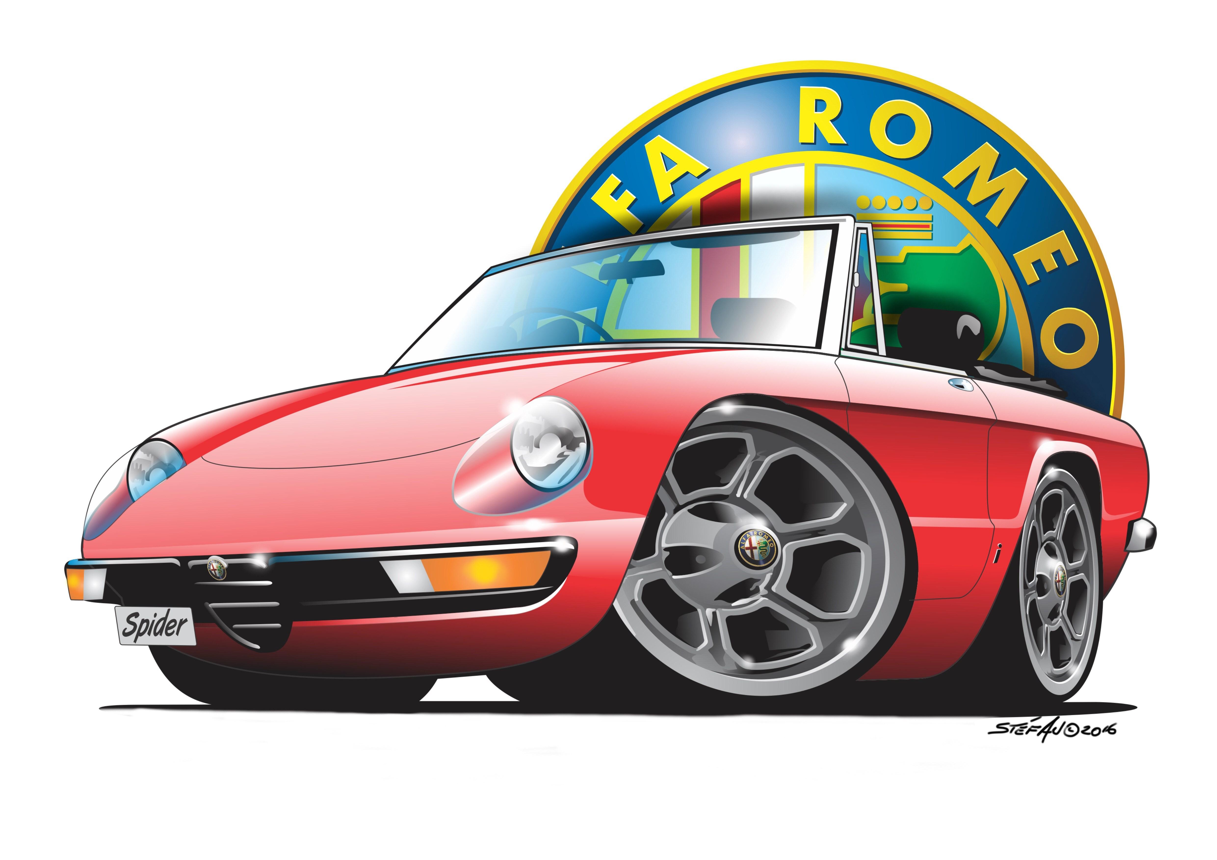 4961x3508 Droptops, Cartoon Car Art Drawings Of Popular Convertibles