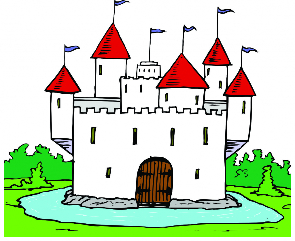 1024x836 Cartoon Castle Drawing How To Draw Castle For Kids
