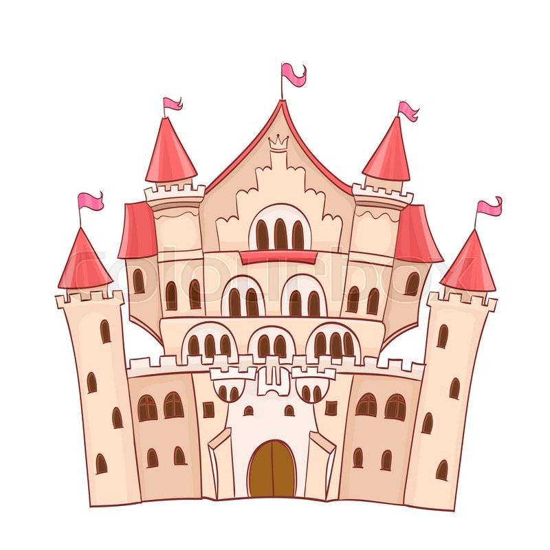 800x800 Cute Cartoon Fairytale Castle. Vector Drawing Stock Vector