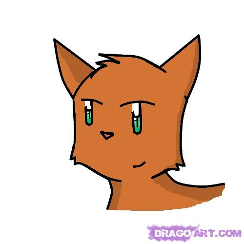 500x500 How To Draw A Cartoon Cat Head, Step By Step, Cartoon Animals