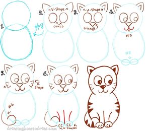 290x260 Pin By Fay On Arts Cat Drawing Tutorial, Cartoon