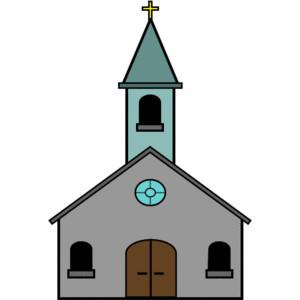 300x300 Cartoon Church Drawing