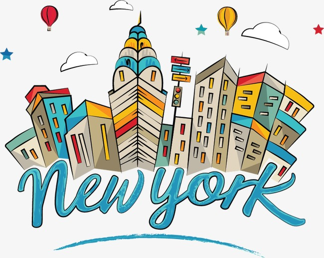650x517 Drawing Comic World Of New York City Landmarks, Cartoon, Cartoon