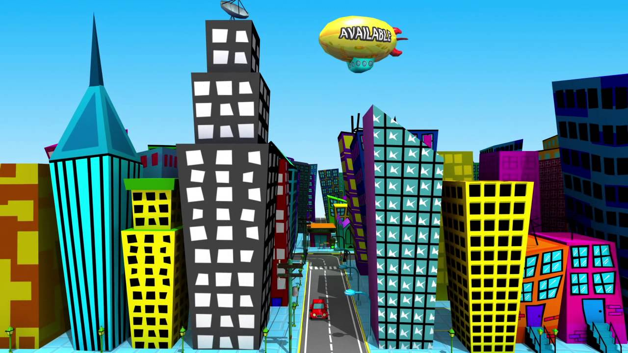 1280x720 Cartoon City