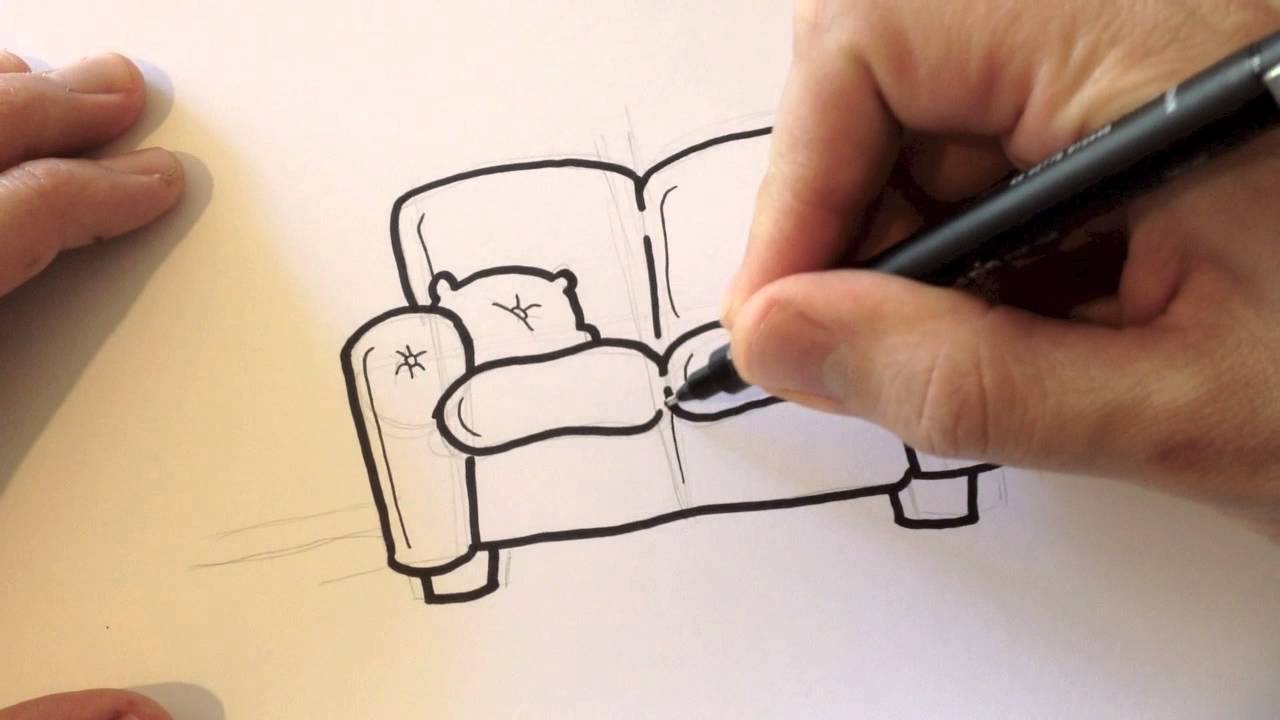 1280x720 Drawing A Cartoon Couch