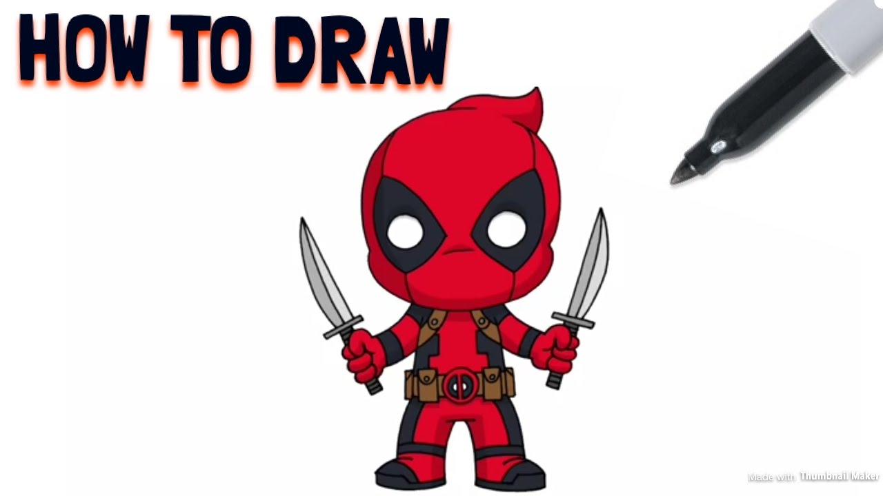 Captivating Cartoon Deadpool Drawing At Getdrawings Com Free For Personal Use