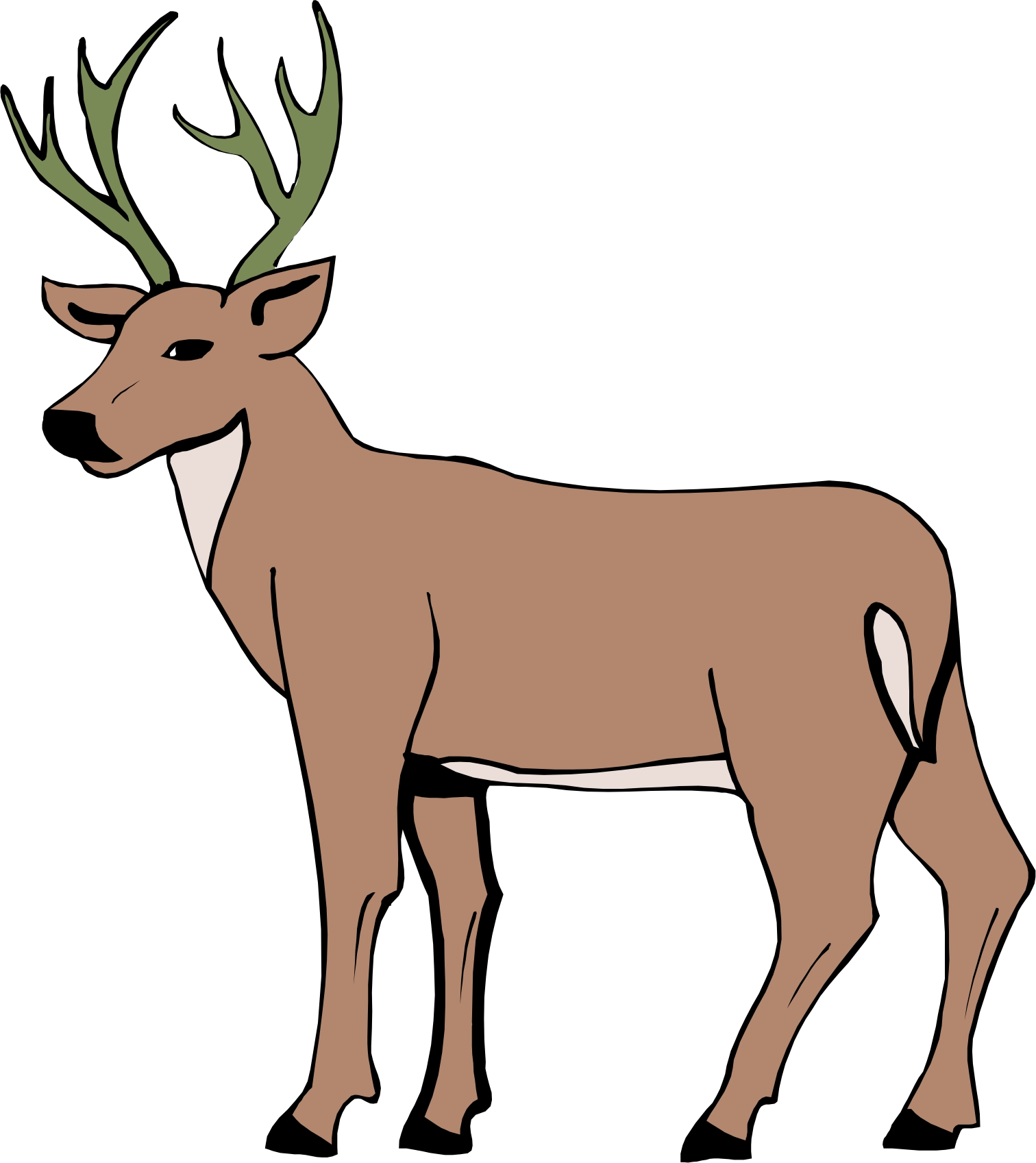 Cartoon Deer Drawing at GetDrawings.com | Free for personal use ...