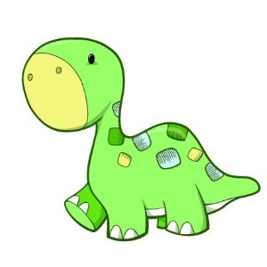300x300 Baby dino drawing Baby Dinosaur Cartoon Pictures Mural Ideas