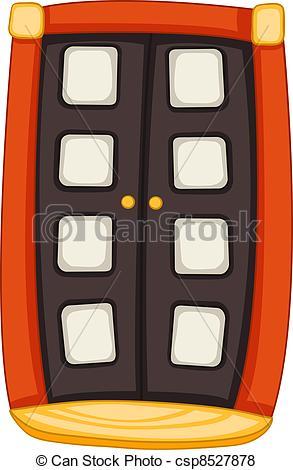293x470 Cartoon Home Door Isolated On White Background. Vector. Vector