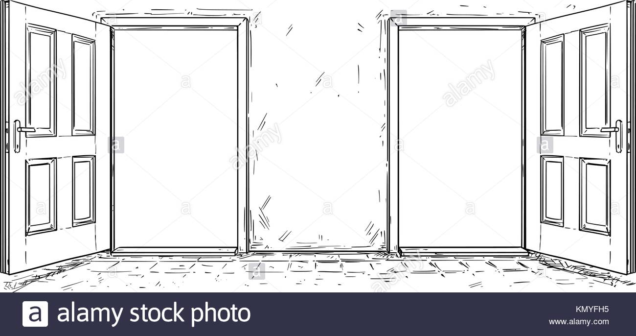 1300x686 Cartoon vector doodle drawing of two open wooden decision door  sc 1 st  GetDrawings.com & Cartoon Door Drawing at GetDrawings.com | Free for personal use ...