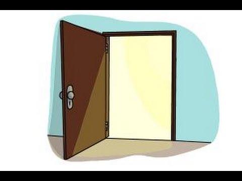 480x360 How To Draw An Open Door
