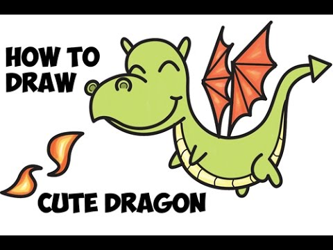 480x360 How To Draw A Cute Dragon Easy Step By Step For Beginners And Kids
