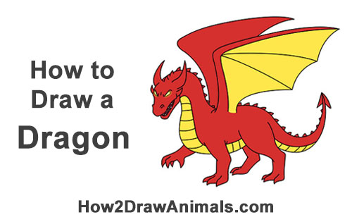 500x315 How To Draw A Dragon (Cartoon)
