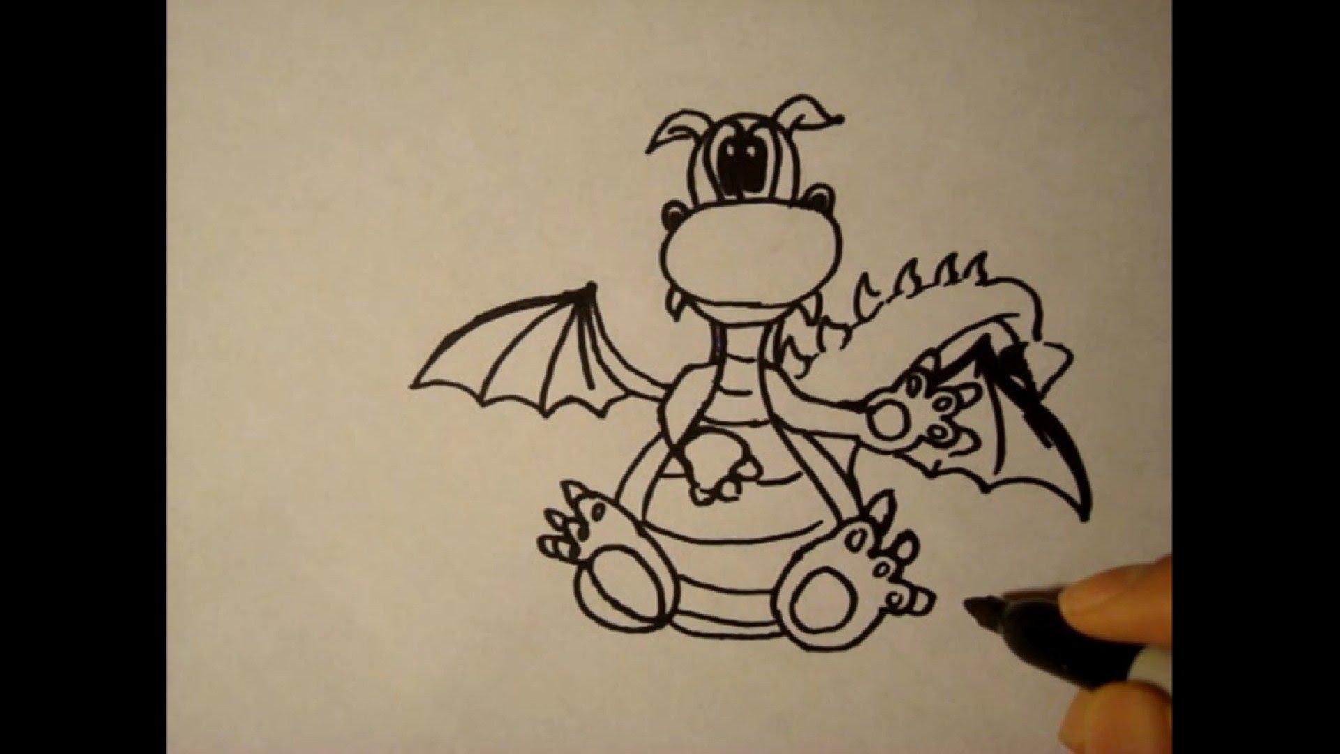 1920x1080 How To Draw A Dragonheadeasystep By Stepfor Beginnerscomo