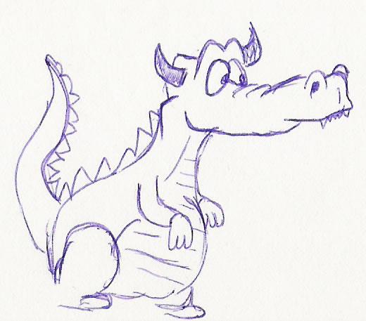 520x457 Cartoon Dragon By Ercasmot