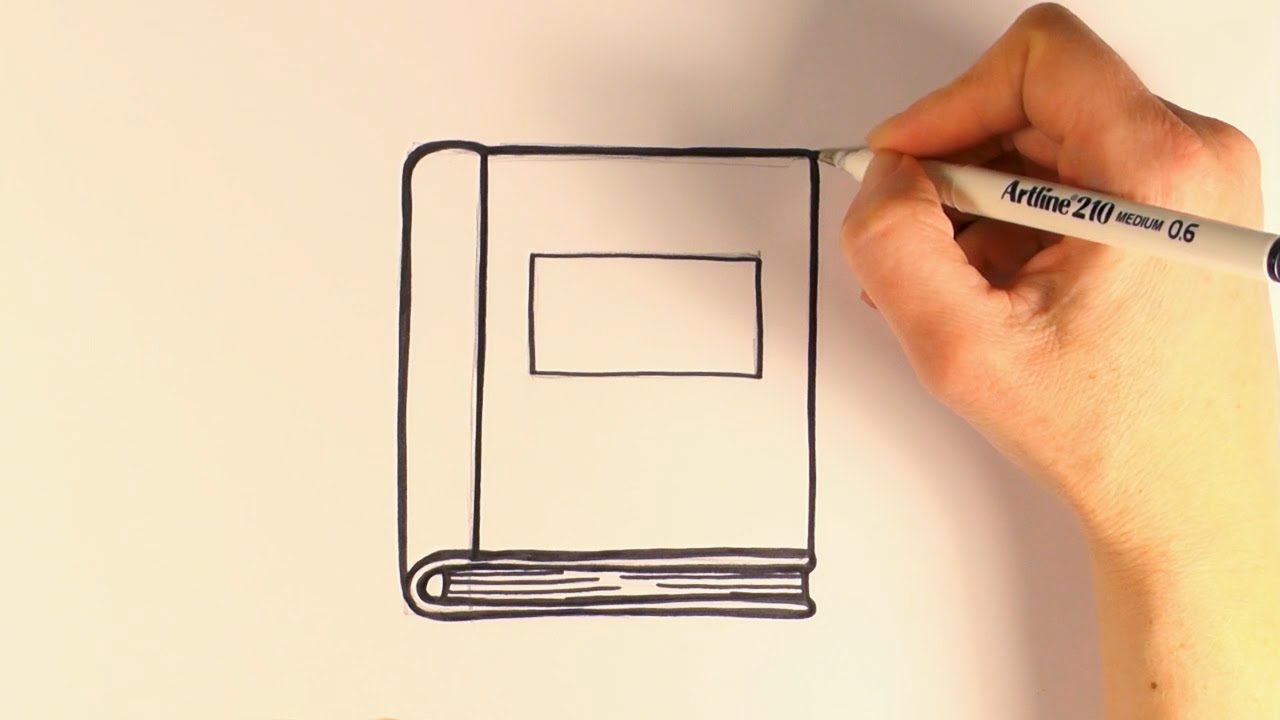 1280x720 How To Draw A Cartoon Book
