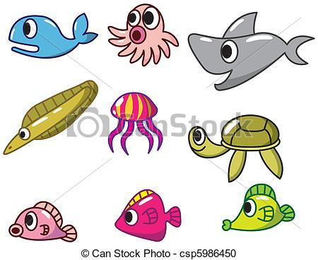 450x368 cartoon fish icon vector clipart csp5986450cartoon fish drawing