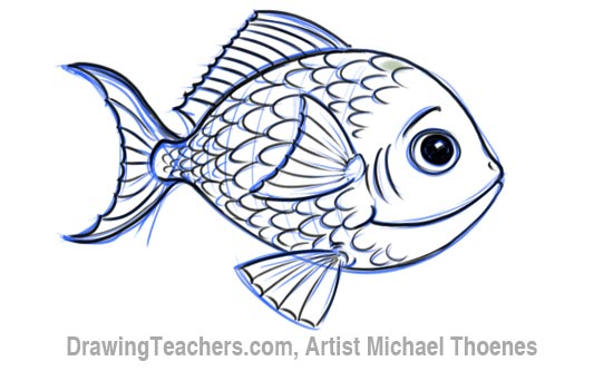 550x333 how to draw a cartoon fish