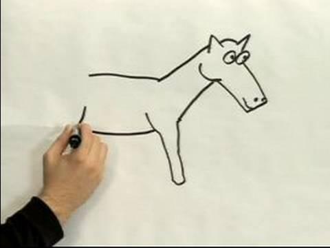480x360 Easy Cartoon Drawing How To Draw A Cartoon Horse
