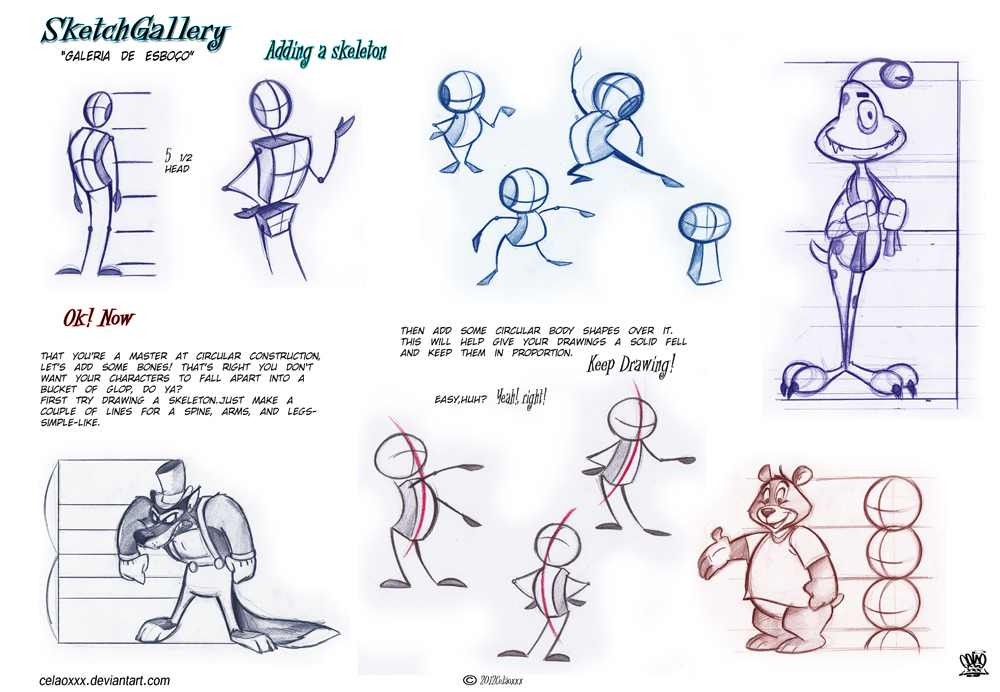 1000x692 How To Draw Cartoon Character Desing By Celaoxxx