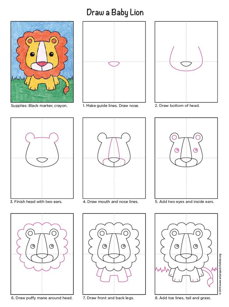 736x988 Baby Lion Lions, Pdf And Cartoon