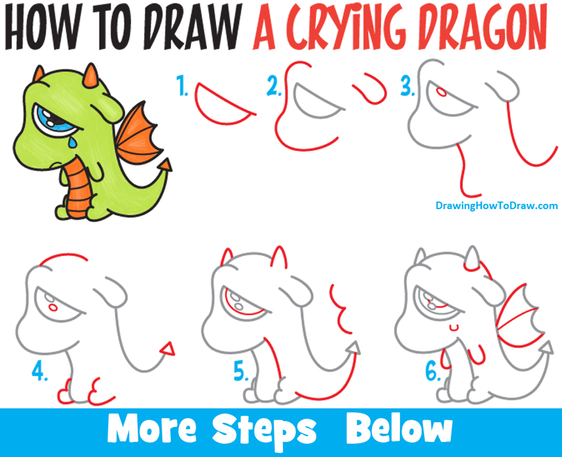 1100x894 Basic Cartoon Drawing Lessons How To Draw A Cute Cartoon Dragon