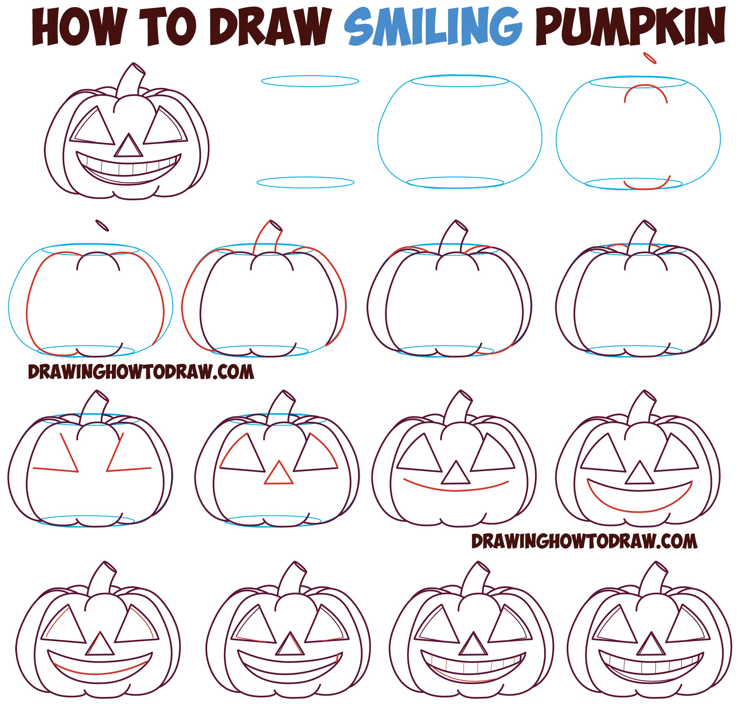 2500x2377 Huge Guide To Drawing Cartoon Pumpkin Faces Jack O'Lantern Faces
