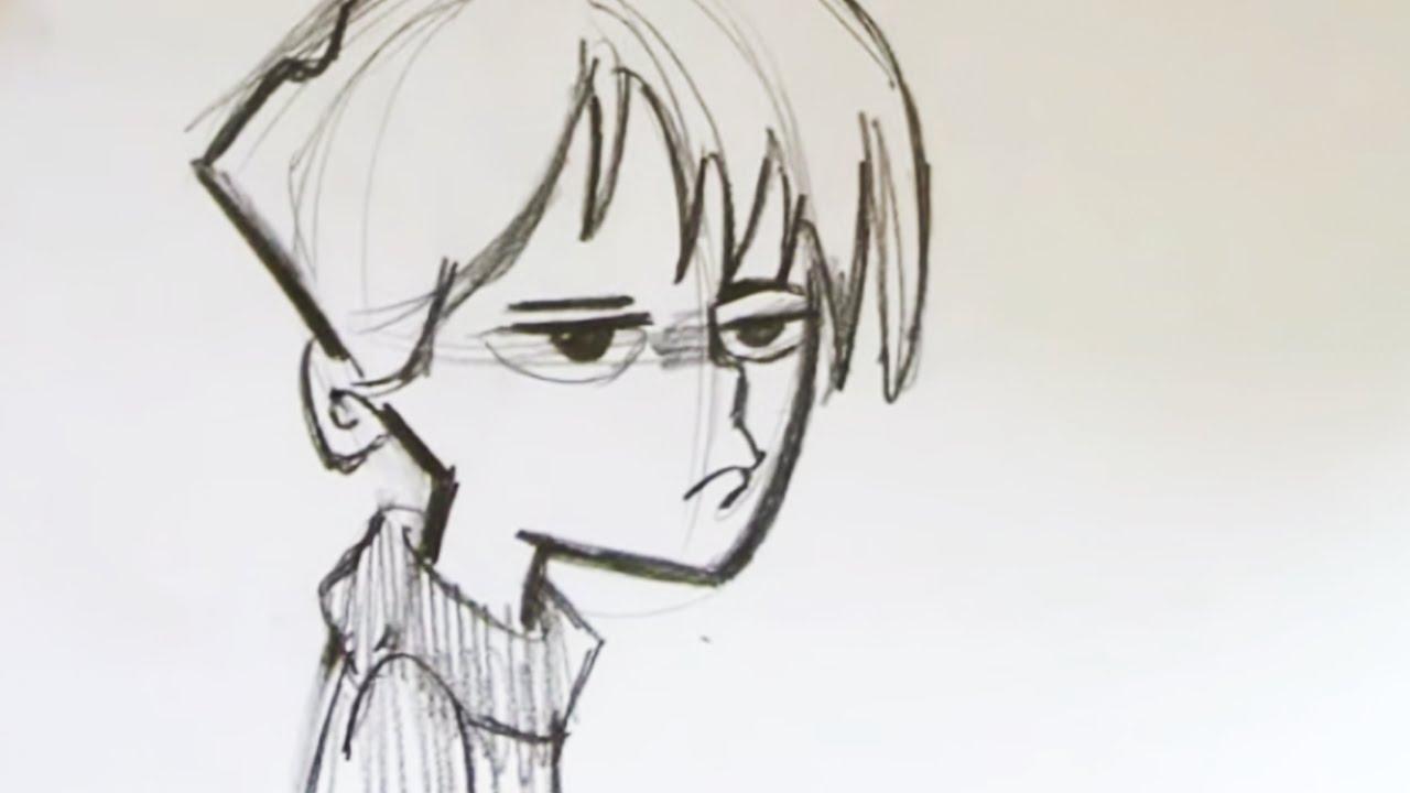 1280x720 Boy Cartoon Sketch
