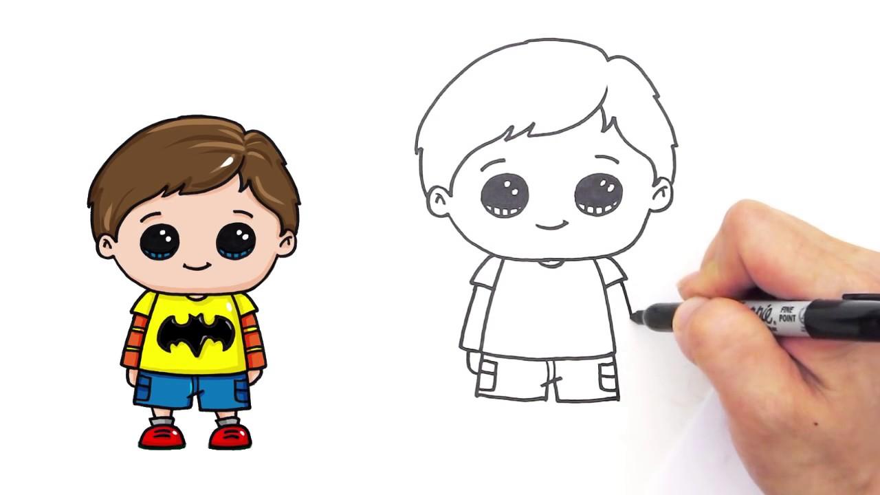 1280x720 How Draw A Cute Boy Easy