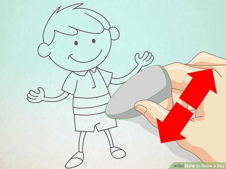 728x546 How To Draw A Boy 14 Steps (With Pictures)