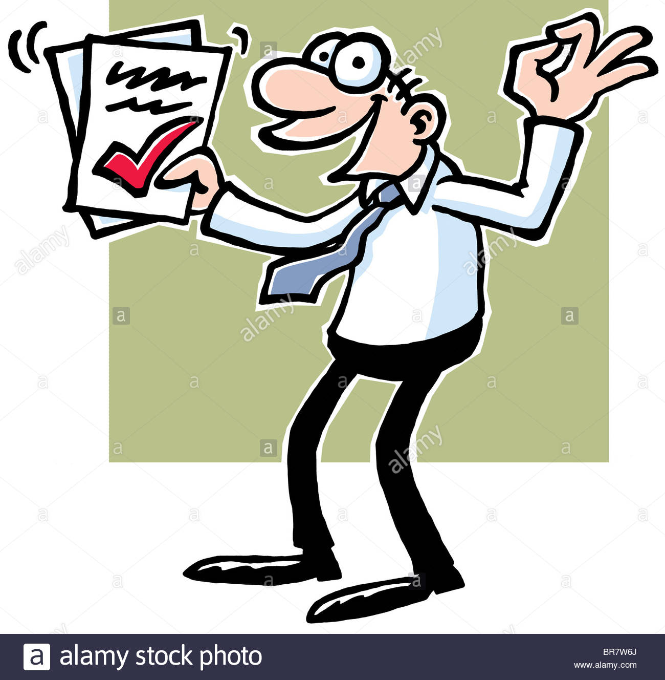 1300x1328 A Cartoon Drawing Of A Man Wearing A Shirt And Tie Holding