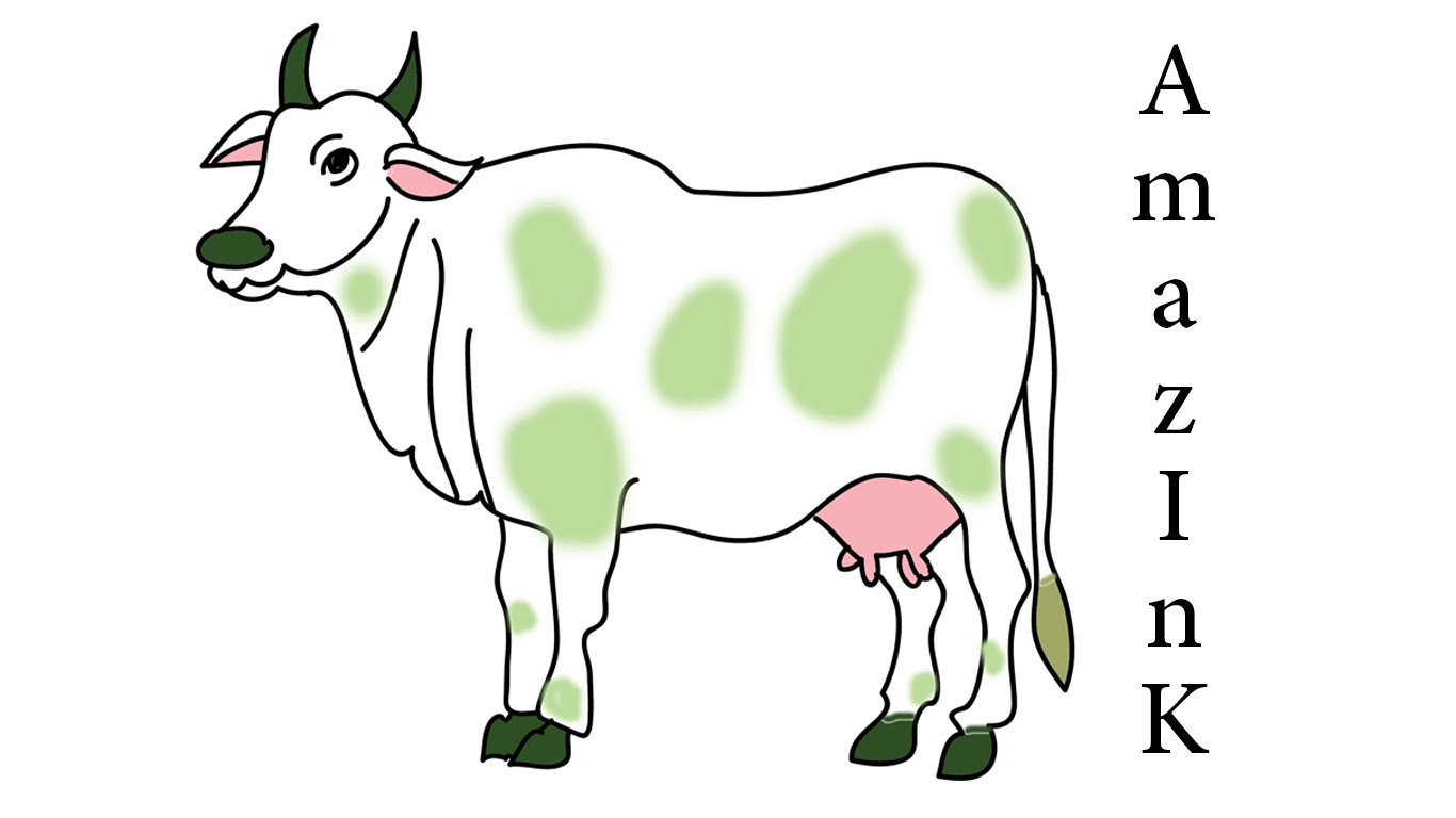 1366x768 Simple Drawing Of Cow Learn How To Draw Cow