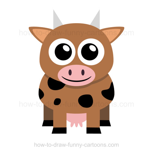 500x504 To Draw A Cow