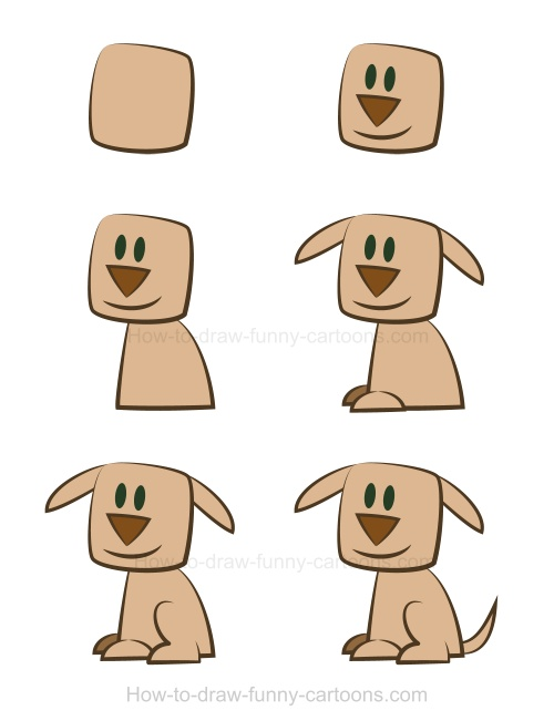 Cartoon Drawing Of Dog At Getdrawings Com Free For