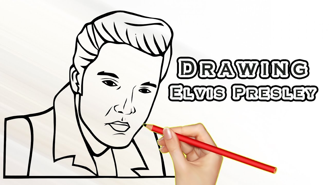 1280x720 Drawing Elvis Presley Drawing Famous People Draw Easy For Kids