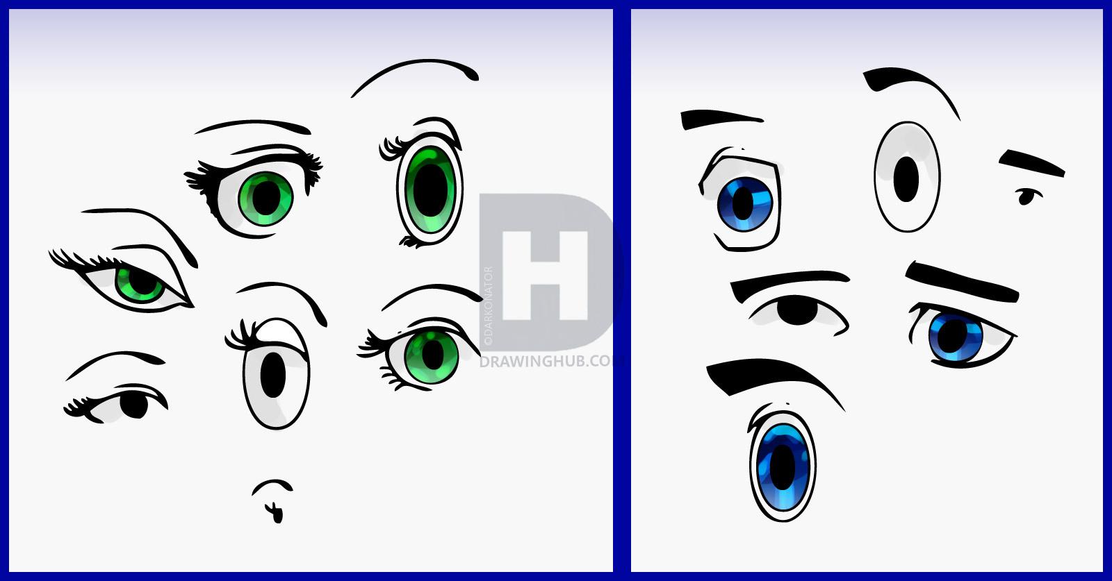 1600x837 Drawing Cartoon Eyes How To Draw Cartoon Eyes, Stepstep, Drawing