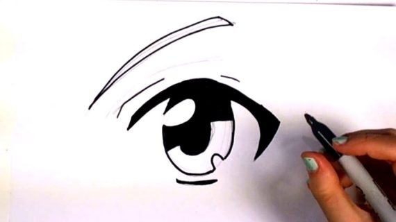 570x320 How To Draw Cartoon Eyes With Pencil Pencil Drawings Of Anime Eyes