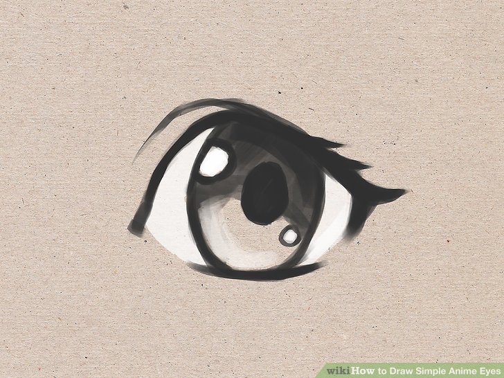 728x546 How To Draw Simple Anime Eyes 5 Steps (With Pictures)
