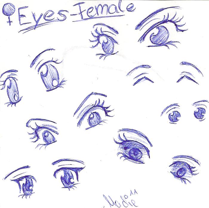 700x698 My 7 Favourite Ways To Draw Female Cartoon Eyes By Madiedraws