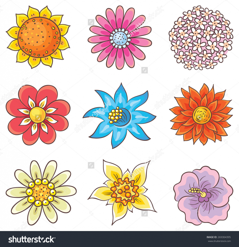 It is a photo of Impertinent Cartoon Flower Drawing
