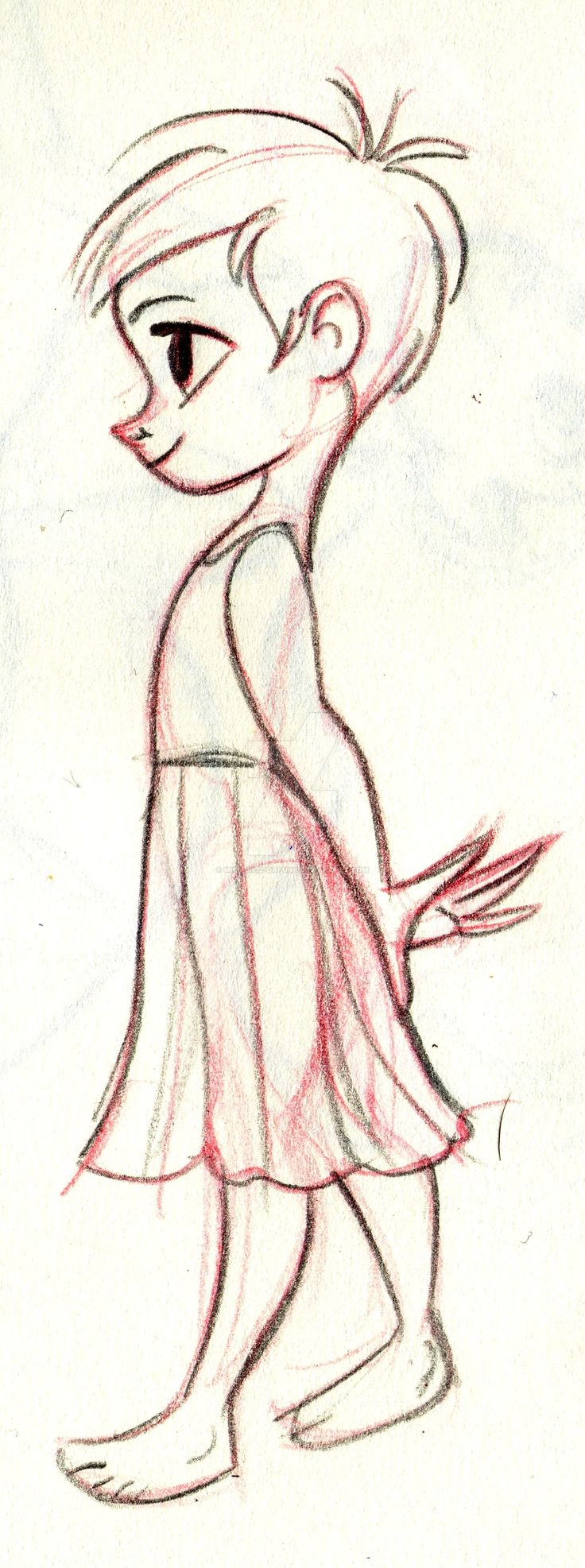 736x1973 Cartoon Drawing Of A Girl
