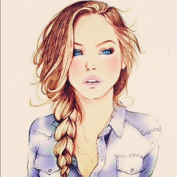 612x612 Pictures Pretty Cartoon Girl Drawing,